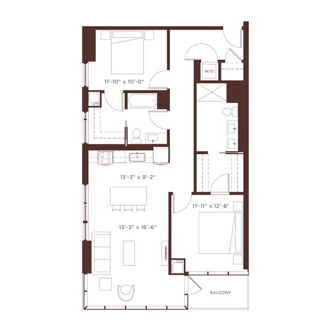 17 floorplan at North+Vine, Chicago