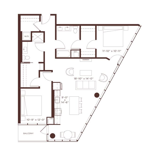 18 floorplan at North+Vine, Illinois
