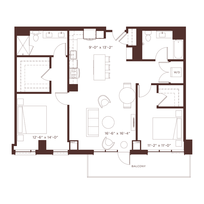 22 floorplan at North+Vine, Chicago, 60610