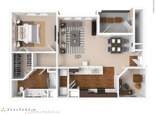 One bedroom, one bath with outdoor patio and large walk in closet