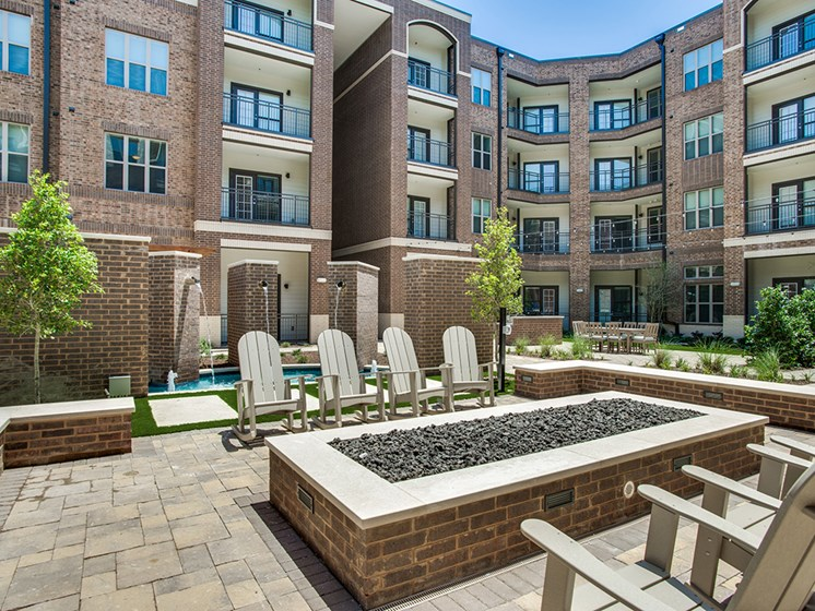 Bell Frisco Market Center apartments outdoor fireplace