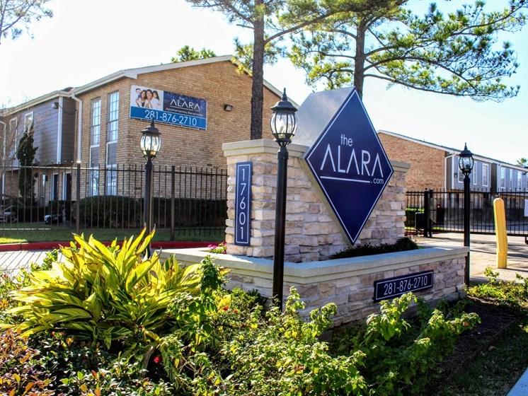 Welcoming Property Signage at The Alara, Texas