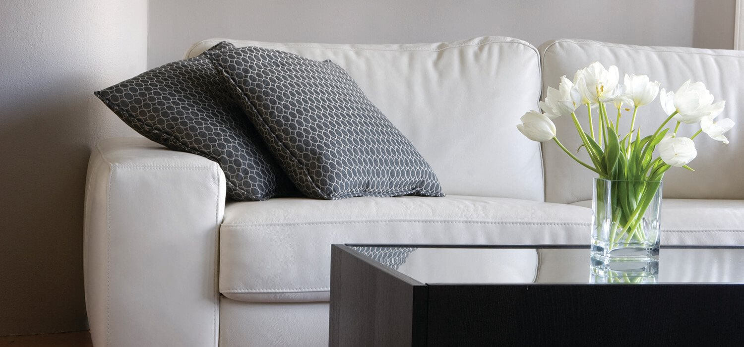 Stock photo of couch with pillows