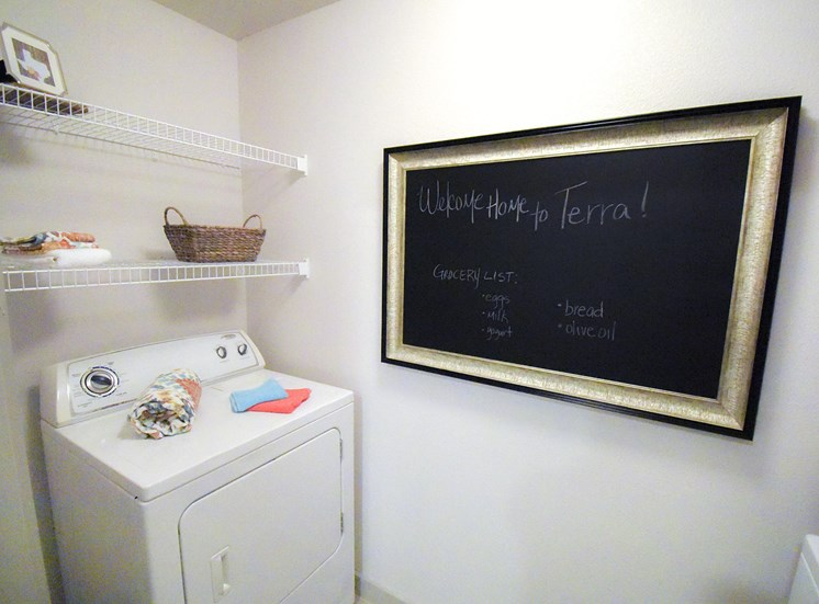furnished laundry room model