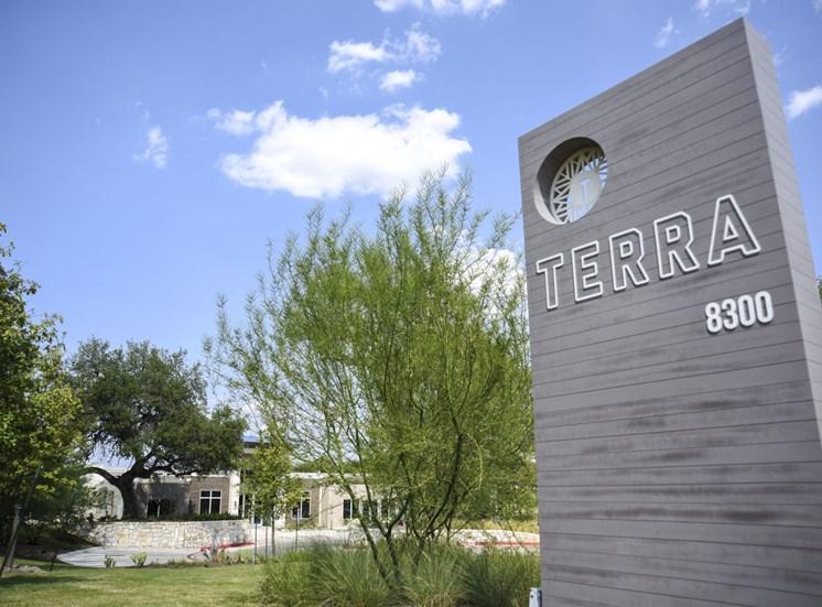 Terra monument sign