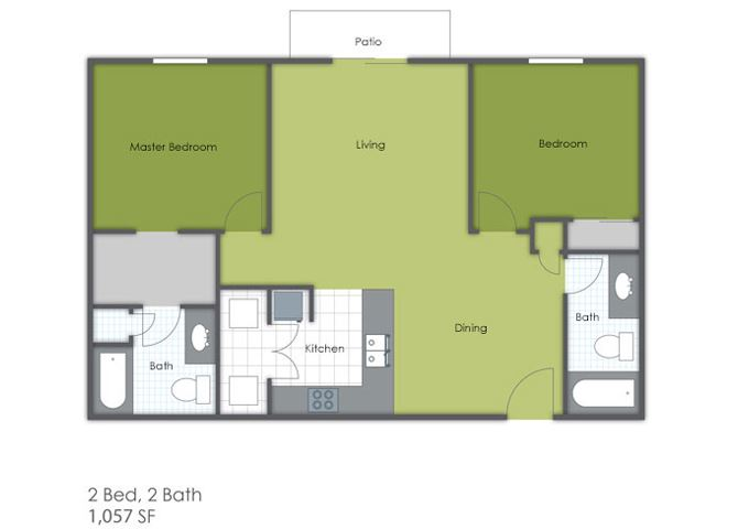 2 Bedroom 2 Bath C