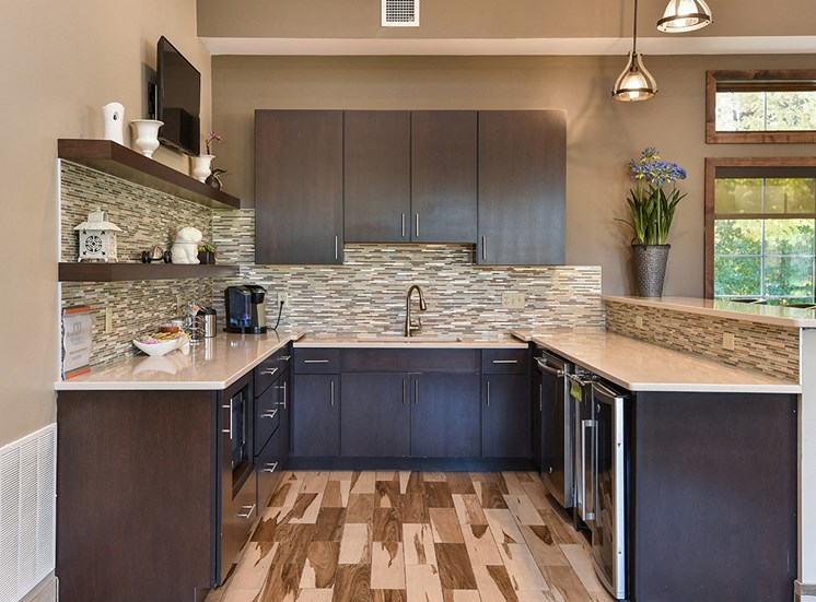 Bass Lake Hills Townhomes - Clubhouse Kitchen