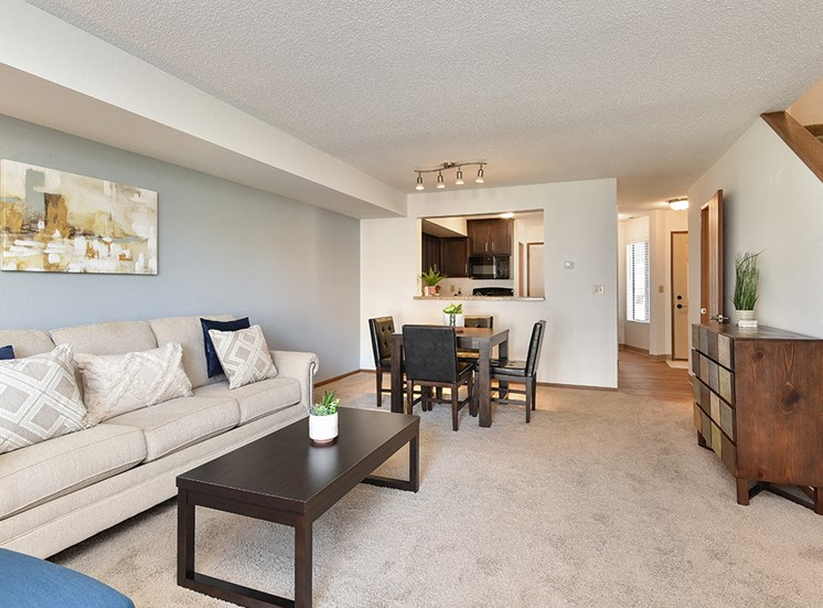 Bass Lake Hills Townhomes - Living & Dining Room
