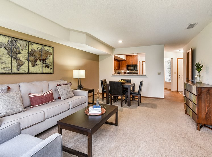 Birch Lake Townhomes - Living & Dining Room