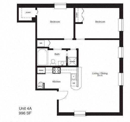 2 Bedrooms, 1.5 Bathrooms