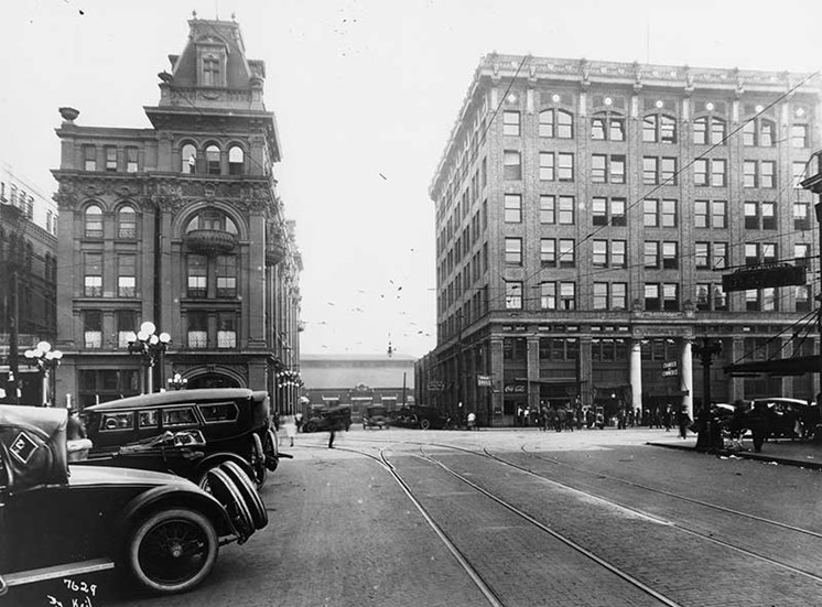 historic Jemison Flats as seen in the early 1900s