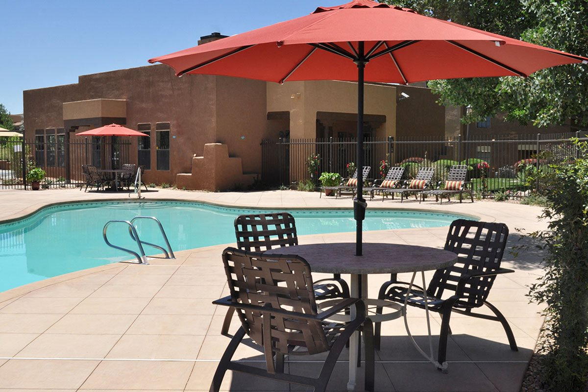 Salt Water Swimming Pool at Santa Fe New Mexico Apartments