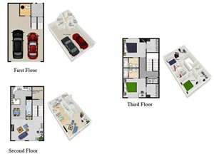 Two Bedroom Townhomes