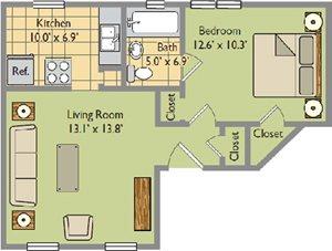 Jr. One Bedroom