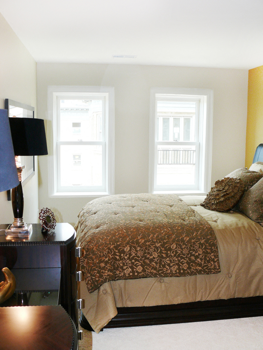 Sunny bedroom at Park Lane Villa Apartments in University Circle Cleveland