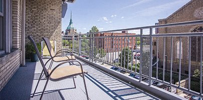 Balcony at Park Lane Villa Apartments in University Circle