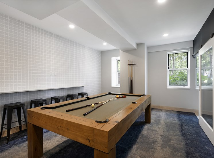 Eitel Apartments billiards room