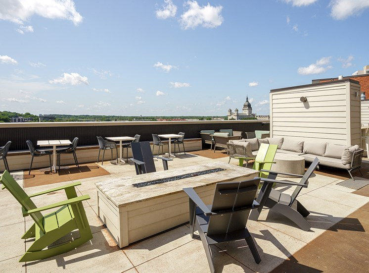 Eitel Apartments outdoor rooftop fire pit