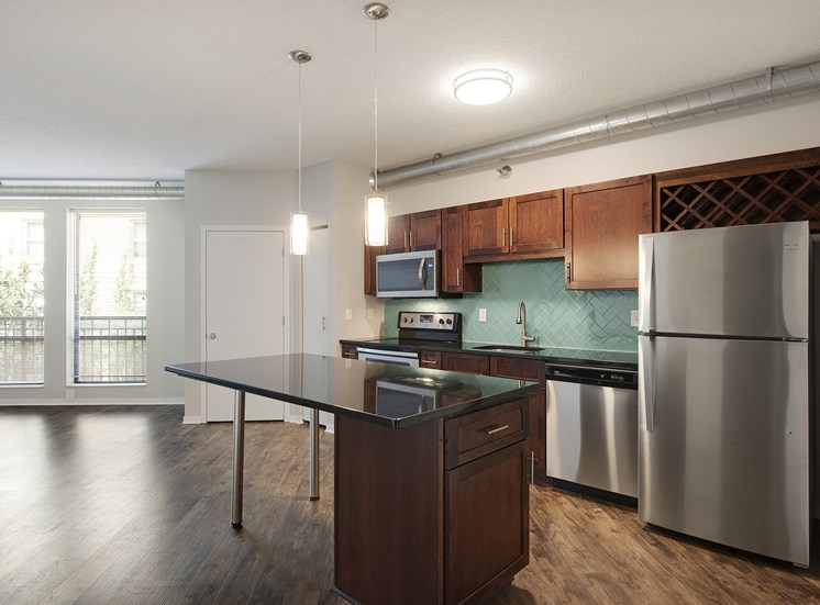 Eitel Apartments kitchen interior