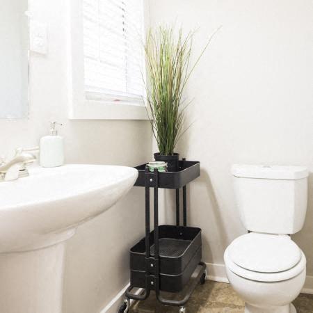 bathroom at the Vic at Buckhead apartments