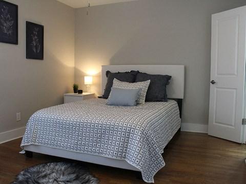 bedroom at the Vic at Buckhead apartments in Atlanta GA