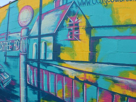 Mural in Buckhead in Atlanta GA