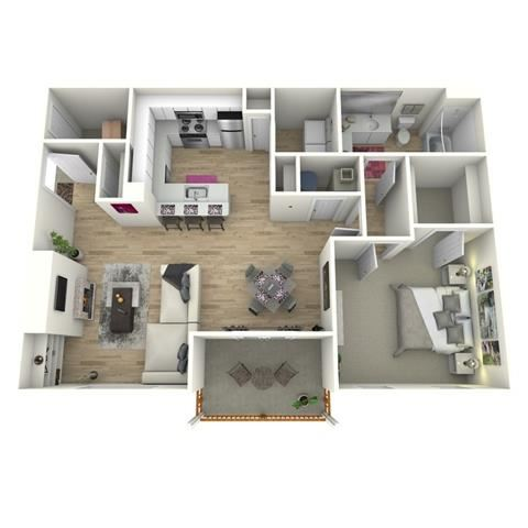 The Akers FloorPlan at Manchester Place, Lithia Springs, GA, 30122