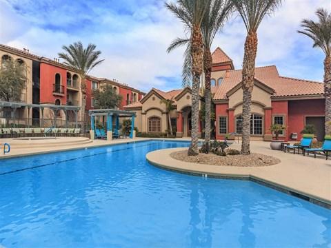 Resort Inspired Montecito Pointe Pool in Las Vegas, NV Apartments