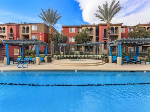 Swimming Pool With Relaxing Sundecks at Montecito Pointe, Nevada
