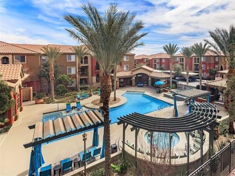 Montecito Pointe Poolside Sundeck in Las Vegas Apartments