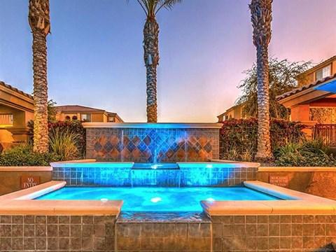 Beautiful Montecito Pointe Fountain in Las Vegas, Nevada Apartment Rentals