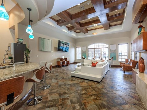 Community Clubhouse With Tv at Montecito Pointe, Las Vegas, Nevada