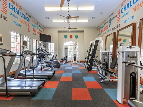 Fitness Center With Updated Equipment at Montecito Pointe, Las Vegas, NV