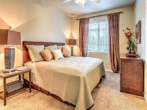 Spacious Bedroom With Comfortable Bed at Montecito Pointe, Las Vegas, NV