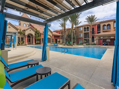 Lounge Swimming Pools With Cabana at Montecito Pointe, Las Vegas, NV
