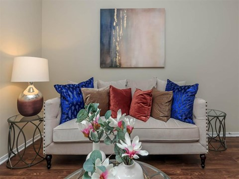 Montecito Pointe Living Room Sofa in Nevada Apartments for Rent