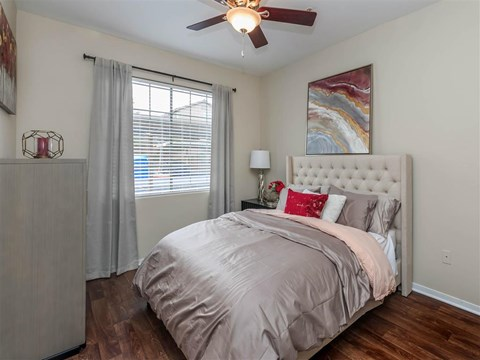 Spacious Bedroom With Comfortable Bed at Montecito Pointe, Las Vegas, Nevada