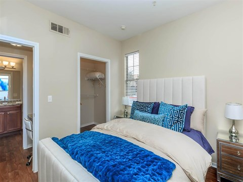 Comfortable Montecito Pointe Bedroom in Las Vegas Apartment Homes