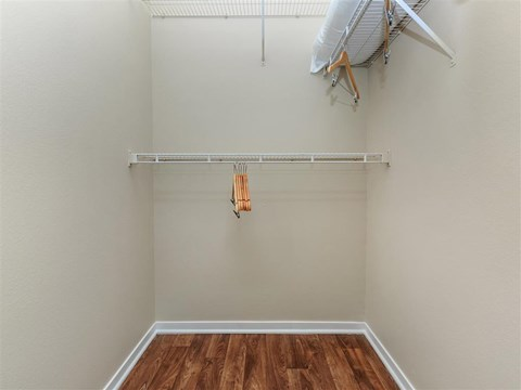 Generous Walk-In Closets With Shelving at Montecito Pointe, Las Vegas, Nevada