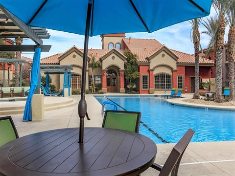 Relaxing Area By The Pool at Montecito Pointe, Nevada, 89166