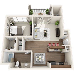A1 Floor Plan at Painted Trails, Arizona, 85295