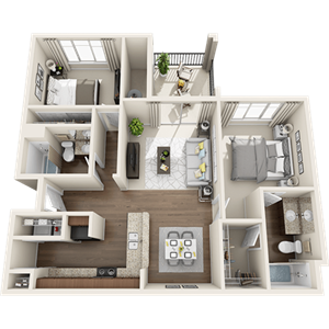 B1 Floor Plan at Painted Trails, Gilbert, AZ