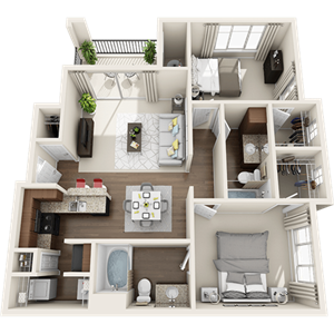B2 Floor Plan at Painted Trails, Arizona, 85295