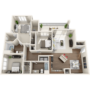C1 Floor Plan at Painted Trails, Gilbert