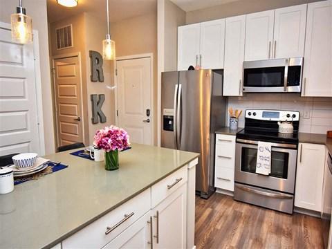 Spacious Kitchen at Pointe at Lake CrabTree, Morrisville, NC, 27560