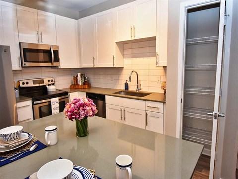 Modern Kitchen at Pointe at Lake CrabTree, Morrisville, North Carolina
