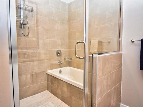 Bathroom With Bathtub at Pointe at Lake CrabTree, North Carolina, 27560