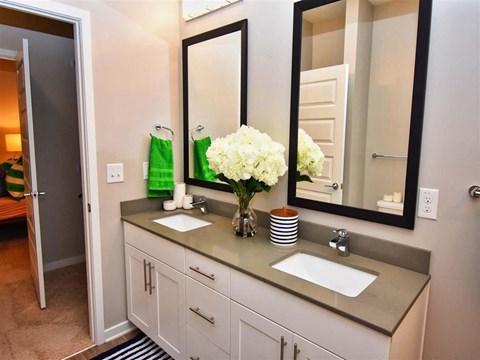 Custom Look Bathroom at Pointe at Lake CrabTree, Morrisville