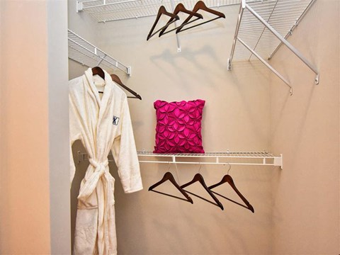 Built-In Shelving In Closet at Pointe at Lake CrabTree, Morrisville, NC