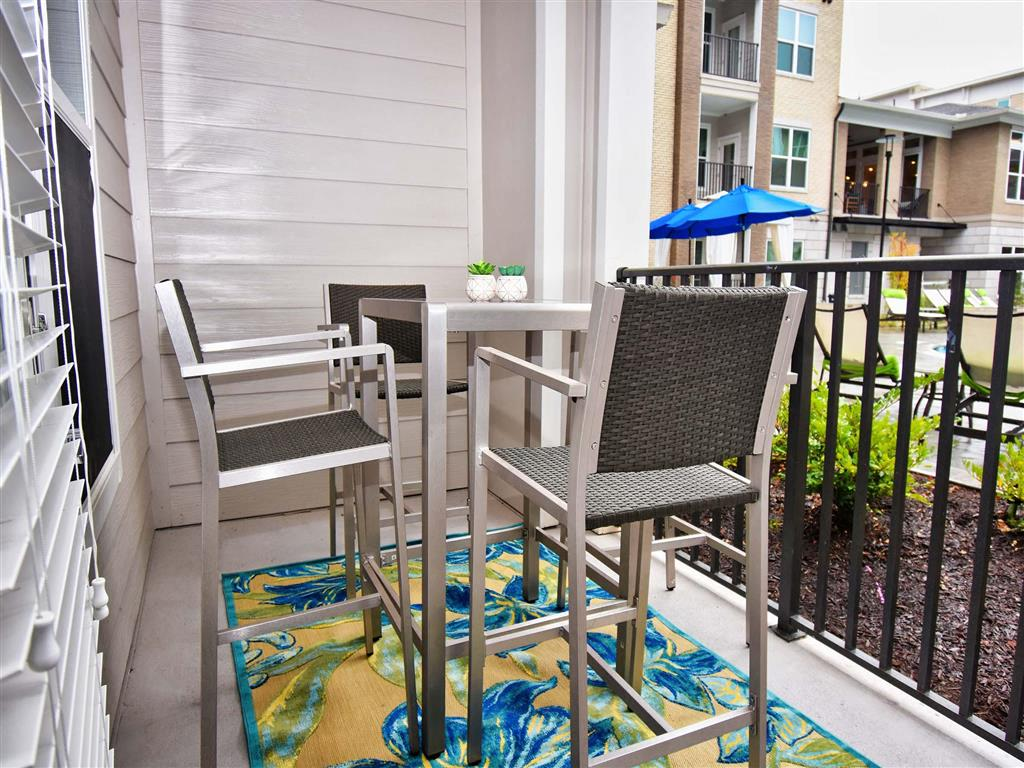 Spacious Patio With Sitting Arrangements at Pointe at Lake CrabTree, North Carolina